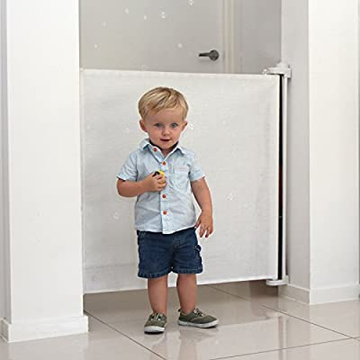 Extra Wide Indoor Retractable Gate, White