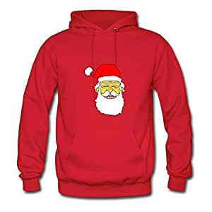 X-large Red Creative Puzzle Laughing Santa Hoody By Sarahdiaz - Women