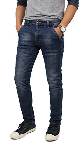NR Mens Designer Skinny Jeans (40X32 /R715_blue)
