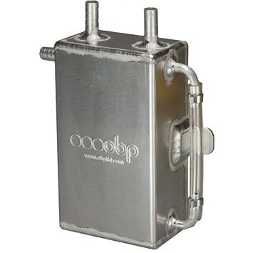 OBPMotorsport - Tanque de aceite de 1 litro cuadrado con cabezal a granel: Amazon.es: Coche y moto