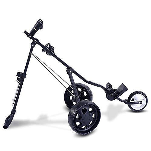 Lucky-gift - Folding Pull Push Golf Cart 3 Wheel Trolley - Golf Cart Trolley Push 3 Wheel Pull 2019 Foldable Bag Folding Club - Electric Caddy Big Max Swivel W New Control