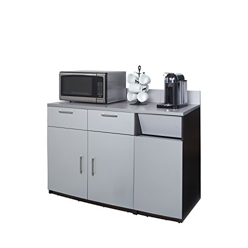 Coffee Kitchen Lunch Break Room Cabinets Model 4285 BREAKTIME 2 piece group Color Espresso/Silver Metallic - Factory Assembled (NOT RTA) Furniture Items ONLY. by Breaktime (Image #2)