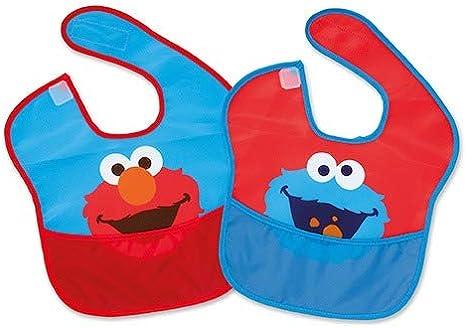 Pack 2 Baberos Elmo y Monstruo de Las Galletas de Barrio Sésamo ...