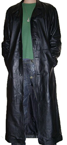 Men Leather Trench - 6
