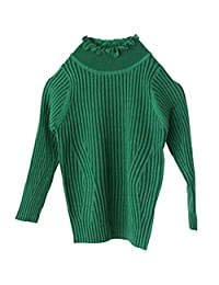 WDREAM Warm Sweaters Kids Girls Long Sleeves Solid Color Pullover Tops