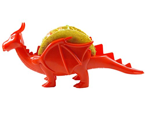Dragon Taco Holder Red or Green – The Perfect Gift for All Who Love Dragons by Elite Homeware