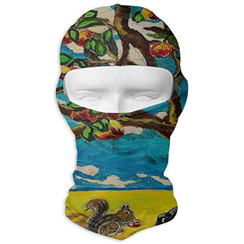 Balaclava Apple Tree Original Acrylic Painting Full Face Masks Ski Mask Motorcycle Hood For Cycling Sports Hiking