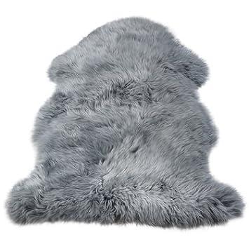 4f5a9af2e3b61c Premium New Zealand Lammfell grau Spitzenqualität ca. 105-110 cm waschbar  geruchsneutral  Amazon.de  Küche   Haushalt