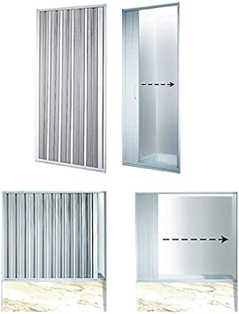 Mampara de ducha plegable ancho variable 110-125 cm puerta plegable ducha: Amazon.es: Bricolaje y herramientas