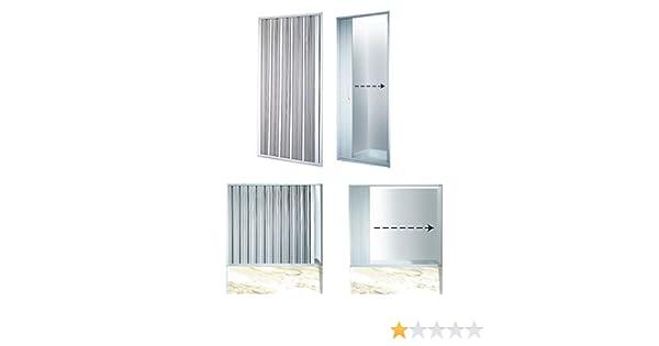 Mampara de ducha plegable ancho variable 155-170 cm puerta plegable ducha: Amazon.es: Bricolaje y herramientas