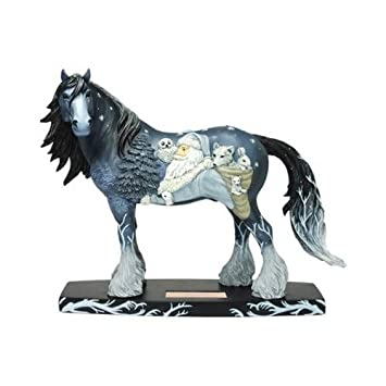 Westland Giftware Woodland Santa Clydesdale 6-1 2-Inch Resin Holiday Figurine