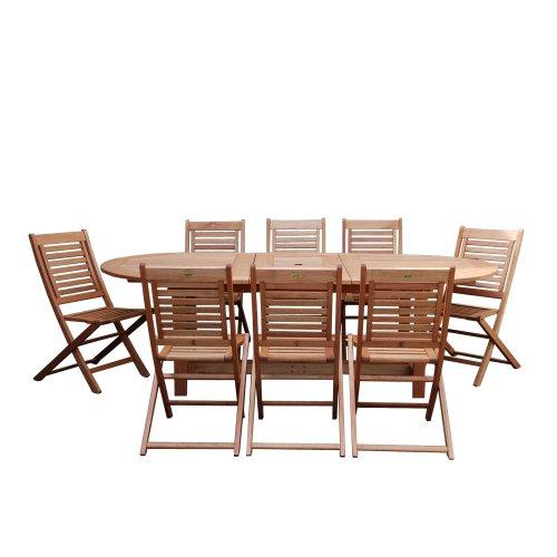- Amazonia Milano 9-Piece Grand Extendable Set