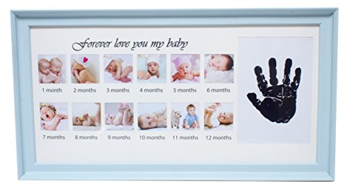 Royal Brands Baby Picture Frame - Baby Growth Collage Decor, Baby Shower Gift Idea for Boy and Girl (Blue) from Royal Brands