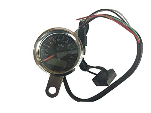 Ultima 48mm Electronic Speedometer w/Black Face for Harley Models 1995-2006