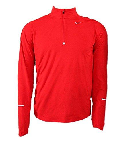 Nike argent Manches Maille Et Element fit shirt lair Dri T Longues Rlhissant Demi fermeture En Avec Rouge rqfr4Z