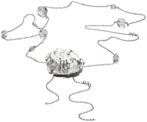 Sautoir Réglable Petite Fleur Des Pres En Argent Massif