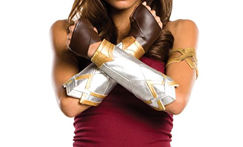 Miracle(Tm) Wonder Woman 2017 Costume Gloves - Brown Leather Gloves (XL, Glovelettes (Brown))