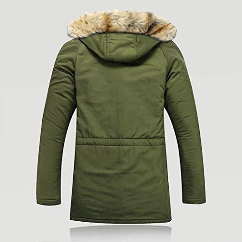 Laine Coton Fourrure En Polaire Manteau Plein De Veste Magiyard Unisexe Femmes Air Vert Hommes Longue Hiver Chaud FHvwT