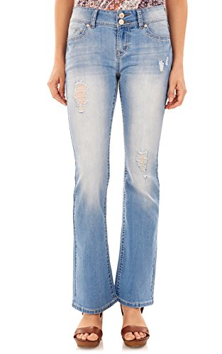 (WallFlower Juniors Luscious Curvy Basic Bootcut Jeans in Cynthia, 13)