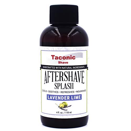 Taconic Shave Lavender Lime Aftershave Splash - Cooling Formula - Artisan Made in the USA