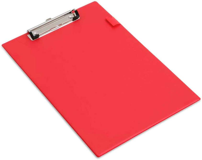 Black Red Blue with cover Available 1 x A4 Foldover PVC Foolscap Clipboard