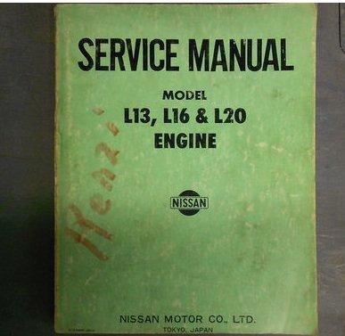 1970 Datsun L13 L16 L20 Engine Service Repair Shop Manual