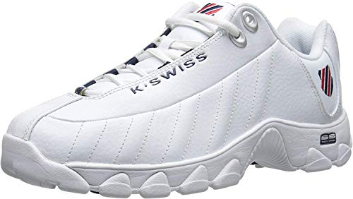 K-Swiss Men's ST329 CMF Training Shoe (10 M US, White Navy-red)