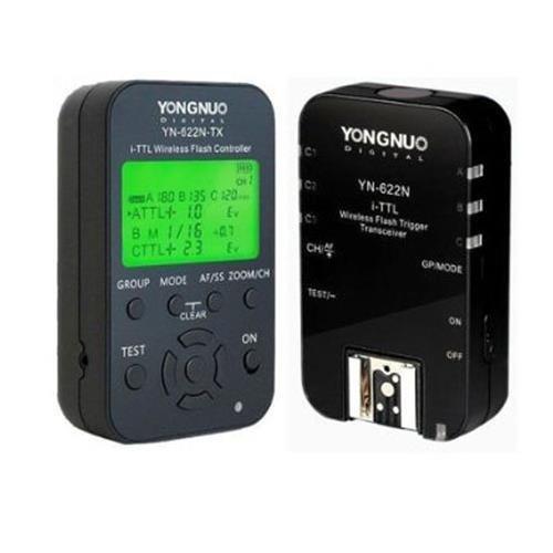 ETbotu YN-622N-KIT YN622N-KIT Wireless i-TTL Flash Trigger Kit with LED Screen for Nikon including 1X YN622N-TX Controller and 1X YN622 N Transceiver
