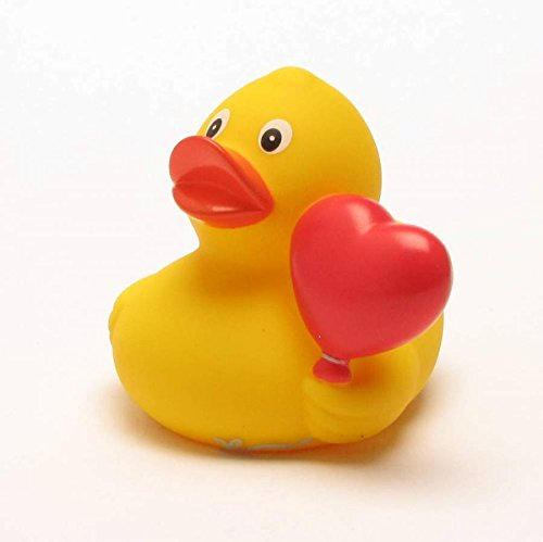 Rubber Duck Heart Balloon | Bathduck | Duckshop | L: 8 cm