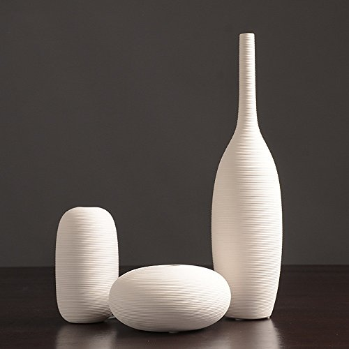 Frosted Glass Essential Vases (Fly Nordic White Ceramic Vase Ornaments Home Decorations)