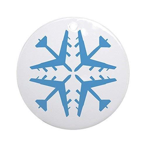 Monroe Valentine Gift B-52 Aviation Snowflake Round Christmas