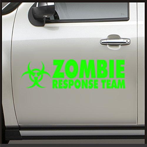 Set 2 Zombie Response Team Door Sticker - Sticker for Jeep Decal JDM Vinyl Car apocalypse (Lime Green) (Best Vehicle For A Zombie Apocalypse)