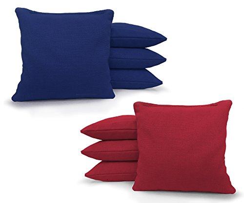 Regulation Cornhole Bags - Set of 8 - Corn Filled & Handmade 25+ COLOR (Tournament Bag)