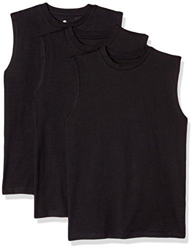 American Hawk Big Boys 3 Piece Pack Muscle T-Shirt, Black/Black/Black, 8 (Black Muscle)