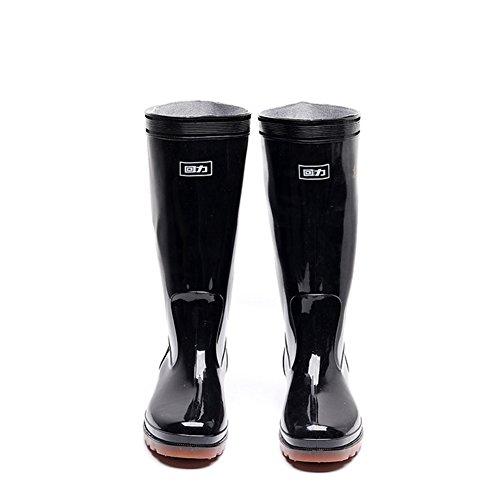 Fall Boots Boots Slip Shoes Waterproof Cycling Rain HUAN Rain Army Leather Black for Winter Anti Shoes Boots Men's PVC Shoe xB0xFqwpnI
