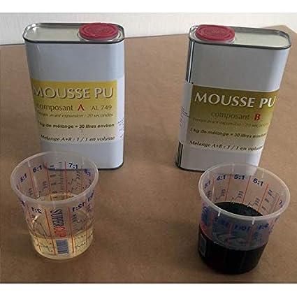 Kit espuma de poliuretano 35 kg/m3
