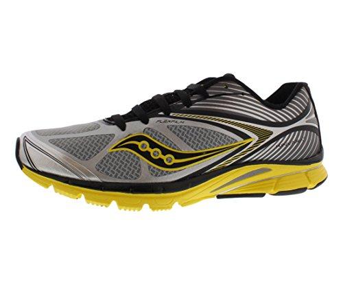 Saucony Men's Kinvara 4 Running Shoe,Grey/Yellow/Black,8.5 M US