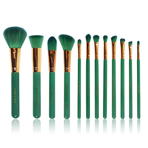 Befen Makeup Brushes 12 Pieces Makeup Brush Set Premium Synthetic Kabuki Foundation Blending Blush Concealer Eye Shadows Face Liquid Powder Cream Cosmetics Brushes Kit (12 Brushes)