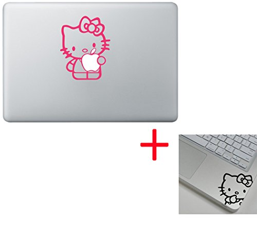 Pink Hello Kitty Macbook Decal Stickers OVER 30 Choices- Fit 13 15 17 BUY 2 Get 1 Free Sticker (Hello Kitty, Hello Kitty) (Peter Pan Macbook Decal compare prices)