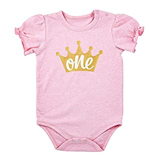 Stephan Baby Stephan Baby 1st Birthday Snapshirt-Style Diaper Cover Available in 3 Designs, One Crown, Fits 6-12 Months