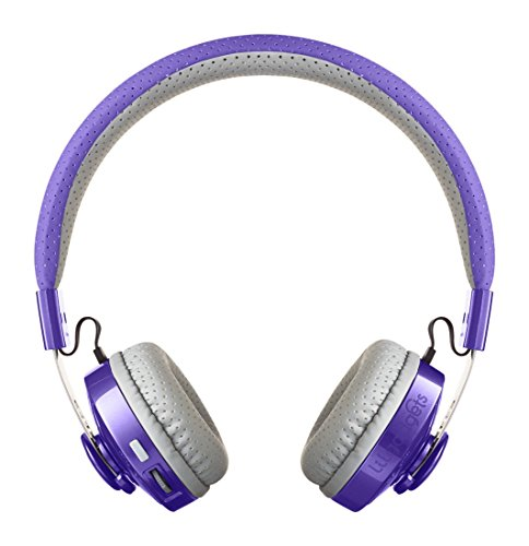 LilGadgets Untangled PRO Kids Premium Wireless Bluetooth Headphones with SharePort (Children) - Purple (Best Bluetooth Headphones For Kids)