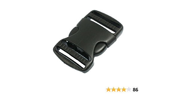 Water /& Wood 1 1//2 Replacement Belt Connecting Black Plastic Quick Release Buckle by Waterwood
