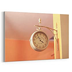 Westlake Art - Clock Up - 5x7 Canvas Print Wall Art - Canvas Stretched Gallery Wrap Modern Picture Photography Artwork - Ready to Hang 5x7 Inch