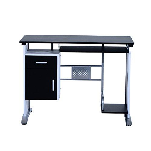 Mesa De Ordenador Escritorio De Oficina Mesa De PC Mesa Con Armario Para Hogar Escuela Y Oficina Mobiliario 100x52x75cm…