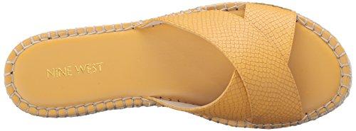 Nine West Demetria cuero del vestido de la sandalia Dark Yellow