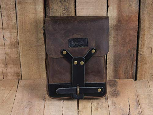 Leather Thigh Bag Tobacco Brown ()