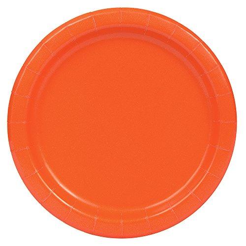 Orange Paper Plates, 16ct -