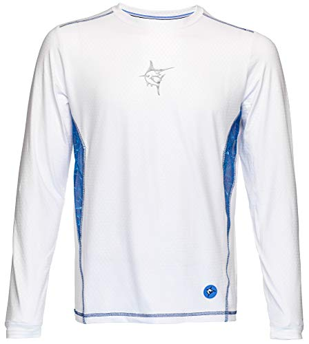 White Water Men's Technoflex Long Sleeve Performance Shirt with UV50 Protection-White XL ()