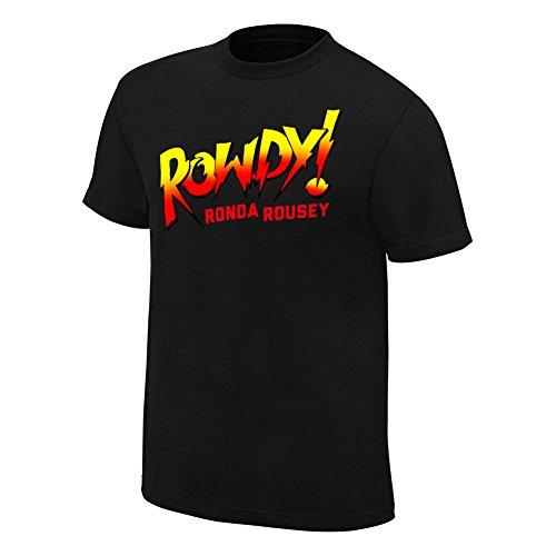 WWE Ronda Rousey Rowdy Ronda Rousey Black Authentic T-Shirt Black Large