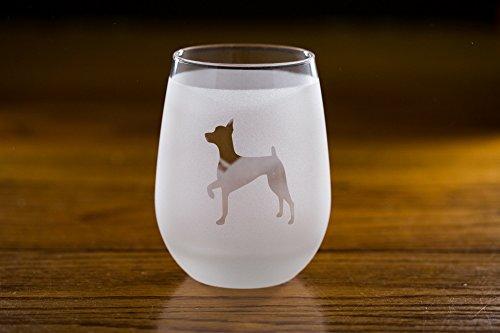 Miniature Pinscher Stemless Wine Glass Set (Miniature Pinscher Accessories)